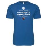 Next Level SoftStyle Royal T Shirt-2019 A10 Basketball Champions