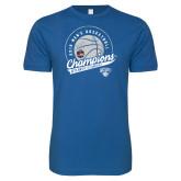Next Level SoftStyle Royal T Shirt-2019 Mens Basketball A10 Champions
