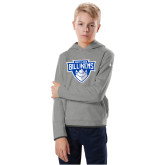Youth Under Armour Grey Fleece Hoodie-Primary Mark