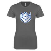Next Level Ladies SoftStyle Junior Fitted Charcoal Tee-Billiken