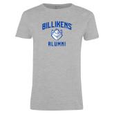 Ladies Grey T Shirt-Alumni