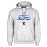 White Fleece Hoodie-2019 A10 Basketball Champions