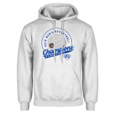 White Fleece Hoodie-2019 Mens Basketball A10 Champions