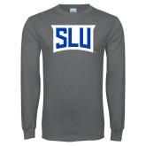 Charcoal Long Sleeve T Shirt-SLU in Frame
