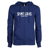 ENZA Ladies Royal Fleece Full Zip Hoodie-Saint Louis Basketball
