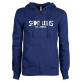 ENZA Ladies Royal Fleece Full Zip Hoodie-Saint Louis Volleyball