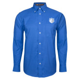 Mens Royal Oxford Long Sleeve Shirt-Billiken