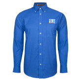 Mens Royal Oxford Long Sleeve Shirt-SLU in Frame