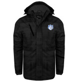 Black Brushstroke Print Insulated Jacket-Billiken