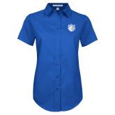 Ladies Royal Twill Button Up Short Sleeve-Billiken