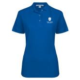 Ladies Easycare Royal Pique Polo-Primary University Mark