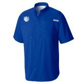 Columbia Tamiami Performance Royal Short Sleeve Shirt-Billiken