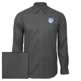 Red House Dark Charcoal Diamond Dobby Long Sleeve Shirt-Billiken