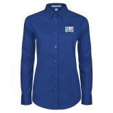 Ladies Royal Twill Button Down Long Sleeve-SLU in Frame