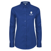 Ladies Royal Twill Button Down Long Sleeve-Primary University Mark