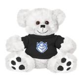 Plush Big Paw 8 1/2 inch White Bear w/Black Shirt-Billiken