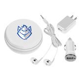 3 in 1 White Audio Travel Kit-Billiken