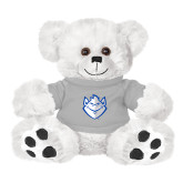 Plush Big Paw 8 1/2 inch White Bear w/Grey Shirt-Billiken
