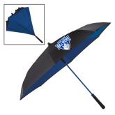 48 Inch Auto Open Black/Royal Inversion Umbrella-Primary Mark
