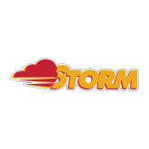 Medium Decal-Storm Secondary Logo, 8 inches wide