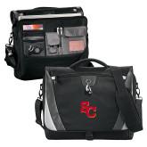 Slope Black/Grey Compu Messenger Bag-SC Interlocking
