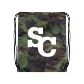 Camo Drawstring Backpack-SC Interlocking