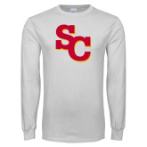White Long Sleeve T Shirt-SC Interlocking