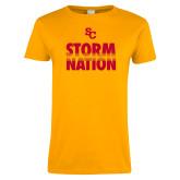 Ladies Gold T Shirt-SC Storm Nation