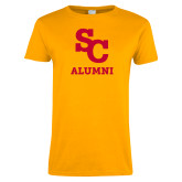 Ladies Gold T Shirt-SC Alumni