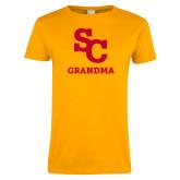 Ladies Gold T Shirt-SC Grandma