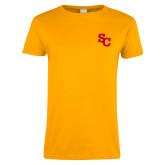 Ladies Gold T Shirt-SC Interlocking