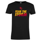 Ladies Black T Shirt-SC Fear the Storm