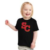 Toddler Black T Shirt-SC Interlocking