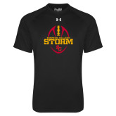 Under Armour Black Tech Tee-Storm Football Graphic