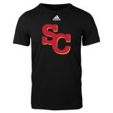 Adidas Black Logo T Shirt-SC Interlocking