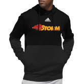 Adidas Black Team Issue Hoodie-Storm Secondary Logo