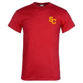 Red T Shirt-SC Interlocking