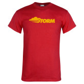 Red T Shirt-Storm Secondary Logo