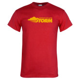Red T Shirt-Simpson College Storm Logo