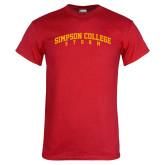 Red T Shirt-Simpson College Storm Collegiate