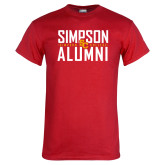 Red T Shirt-Simposon Alumni Stacked