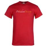 Red T Shirt-The Presidents Society Logo