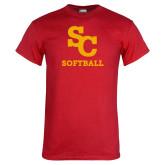 Red T Shirt-SC Softball