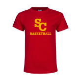 Youth Red T Shirt-SC Basketball