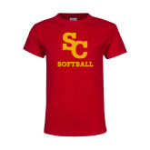 Youth Red T Shirt-SC Softball
