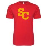 Next Level SoftStyle Red T Shirt-SC Interlocking