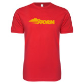Next Level SoftStyle Red T Shirt-Storm Secondary Logo