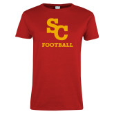 Ladies Red T Shirt-SC Football