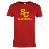 Ladies Red T Shirt-SC Basketball