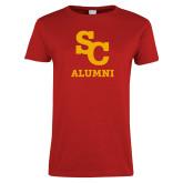 Ladies Red T Shirt-SC Alumni